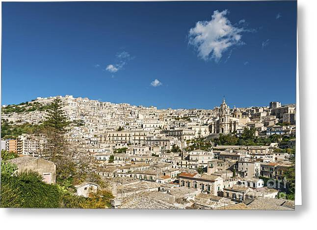 Italian Med Greeting Cards - Traditional Houses Of Modica In Sicily Italy Greeting Card by Jacek Malipan