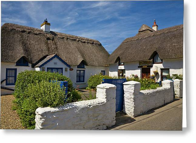 Traditional Thatched Cottage, Kilmore Greeting Card by Panoramic Images