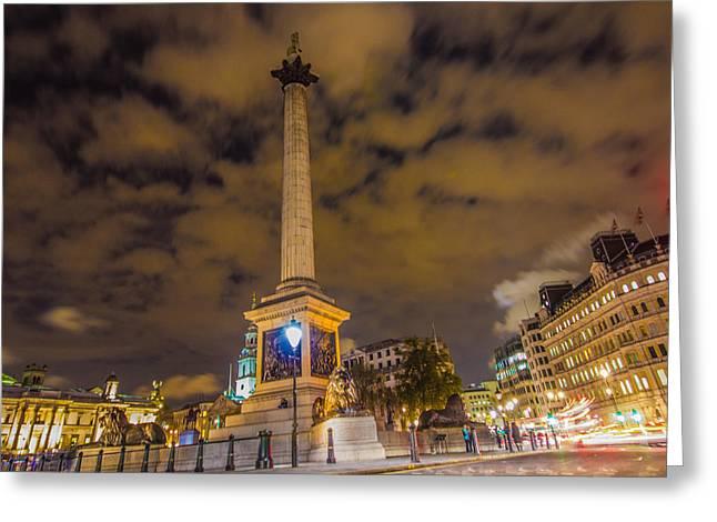 Trafalgar Greeting Cards - Trafalgar Square Greeting Card by Dawn OConnor