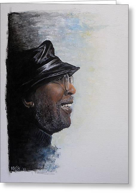 Drummer Greeting Cards - Train A Coming - Curtis Mayfield Greeting Card by William Walts