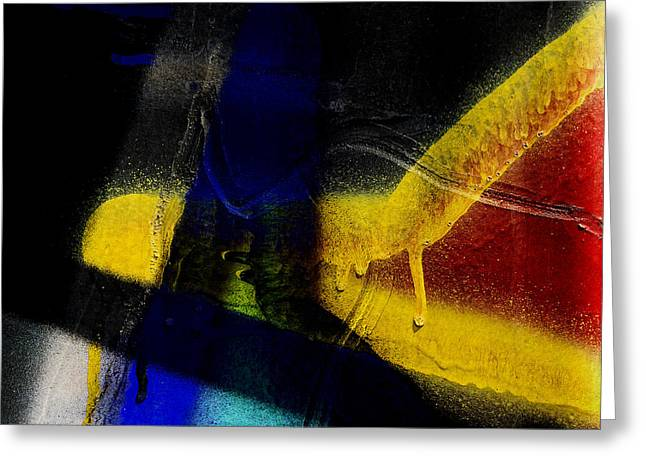 Graffitti Greeting Cards - Train Art Abstract Greeting Card by Carol Leigh