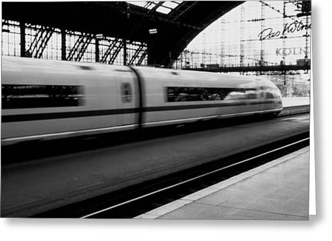 Shed Photographs Greeting Cards - Train Station, Cologne, Germany Greeting Card by Panoramic Images
