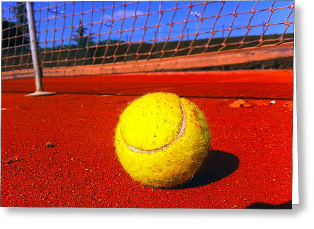 Clay Court Greeting Cards - Training Session Greeting Card by Daniele Zambardi