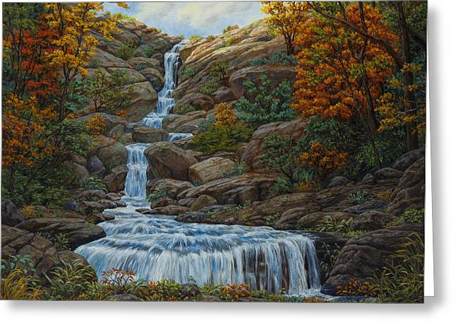 Fall Colors Greeting Cards - Tranquil Cove Greeting Card by Crista Forest
