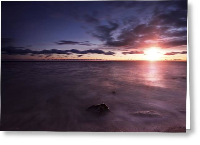 Reflections Of Sky In Water Greeting Cards - Tranquil Sea Against Moody Sky Greeting Card by Evgeny Kuklev