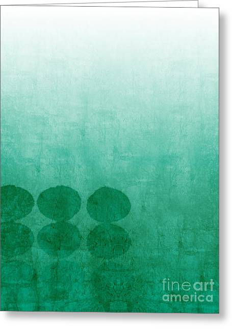 Abstract Modern Greeting Cards - Tranquility Greeting Card by Linda Woods