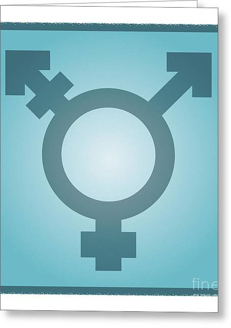 Identification Symbol Greeting Cards - Transgender Symbol, Artwork Greeting Card by Stephen Wood