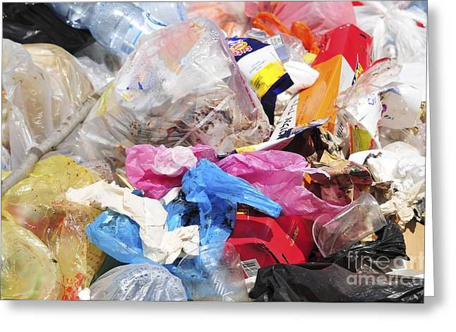Public Issue Greeting Cards - Trash And Garbage Greeting Card by PhotoStock-Israel