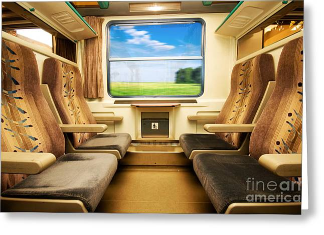 First-class Greeting Cards - Travel in comfortable train. Greeting Card by Michal Bednarek