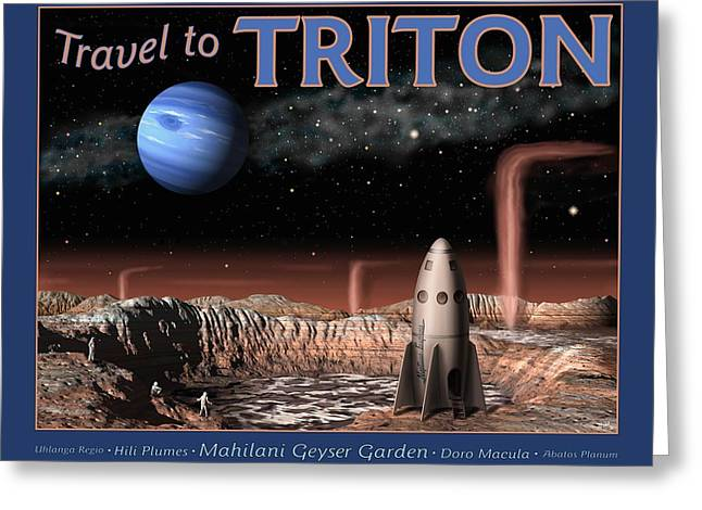 Travel to Triton Greeting Card by Tharsis  Artworks