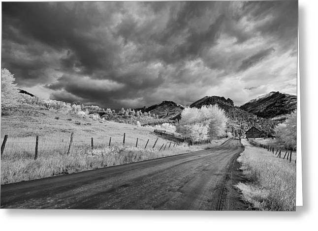 Colorado Artwork Greeting Cards - Traveling Down Greeting Card by Jon Glaser