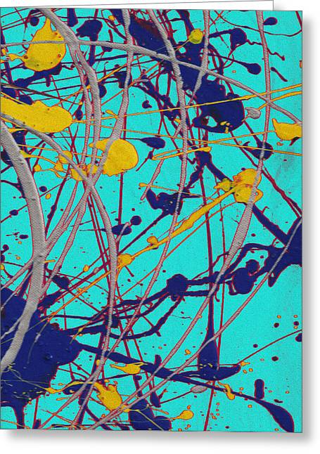 Traveling Fast Inside His Dreams Greeting Card by Sir Josef Social Critic - ART