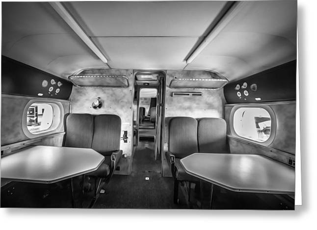 Pby Catalina Greeting Cards - Traveling First Class 1944 Short Sunderland BW Greeting Card by Rich Franco