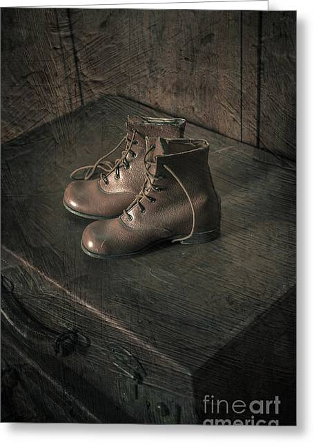 Boots Digital Greeting Cards - Travelling Greeting Card by Svetlana Sewell