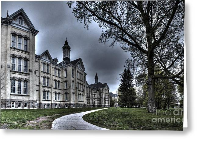 Traverse City Greeting Cards - Traverse City State Mental Hospital Greeting Card by Twenty Two North Photography