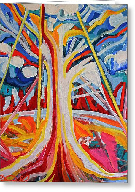 Morphing Greeting Cards - Tree Greeting Card by Laura Tarnoff