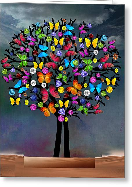 Tree  Greeting Card by Mark Ashkenazi