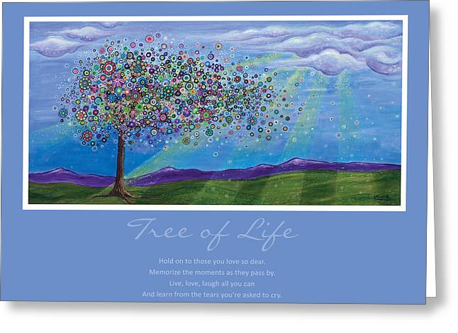 Purple Mountains Prints Greeting Cards - Tree of Life Greeting Card by Tanielle Childers