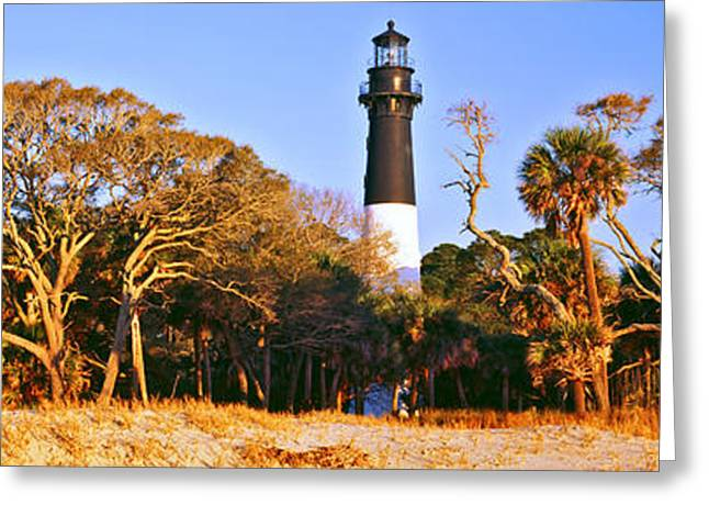 Beaufort Greeting Cards - Trees Around A Lighthouse, Hunting Greeting Card by Panoramic Images