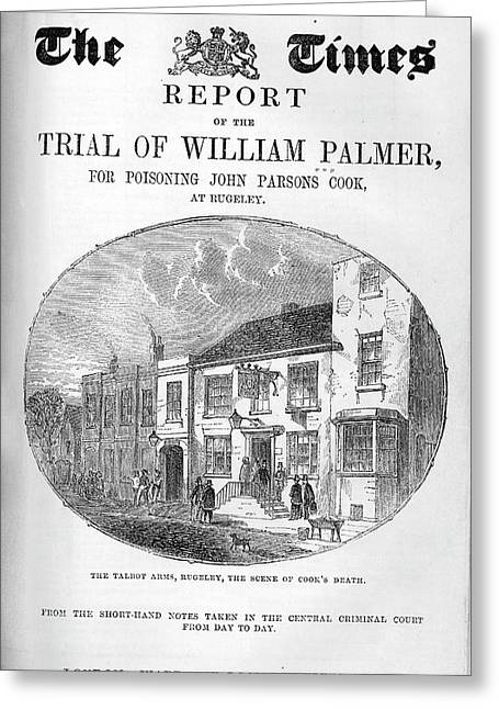 Trial Of William Palmer Greeting Card by National Library Of Medicine