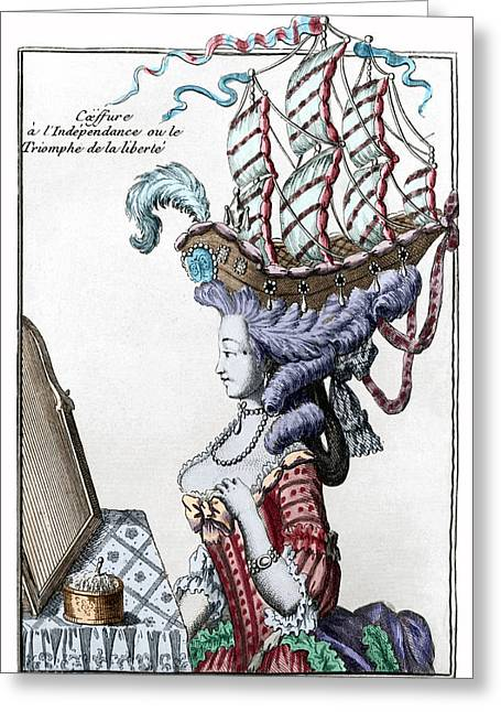 """""""war Women"""" Greeting Cards - TRIUMPH OF LIBERTY. c1781 Greeting Card by Granger"""