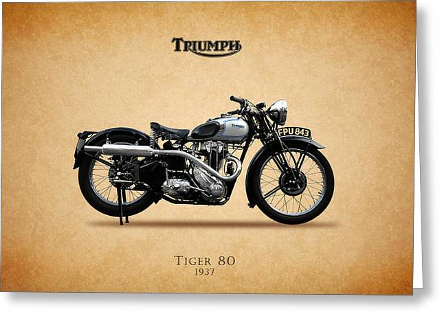 Tiger Photographs Greeting Cards - Triumph Tiger 80 1937 Greeting Card by Mark Rogan
