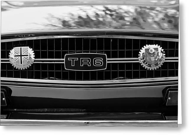 Triumph Tr 6 Grille Emblem Greeting Card by Jill Reger