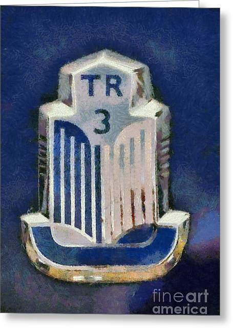 Car Mascot Paintings Greeting Cards - 1962 Triumph TR3 Greeting Card by George Atsametakis