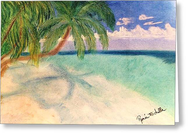 Nature Scene Pastels Greeting Cards - Tropical Shores Greeting Card by Renee Michelle Wenker