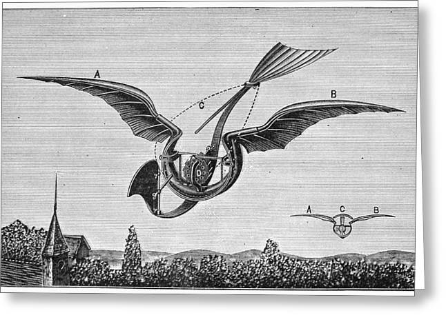 Trouve Greeting Cards - TrouvÉs Ornithopter Greeting Card by Granger