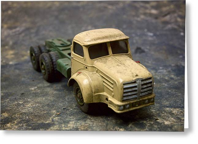 Old Truck Photography Greeting Cards - Truck Toy Greeting Card by Bernard Jaubert