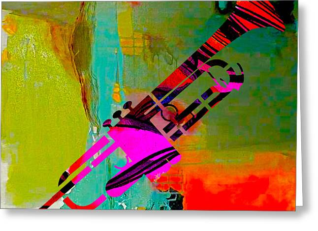 Trumpet Greeting Card by Marvin Blaine