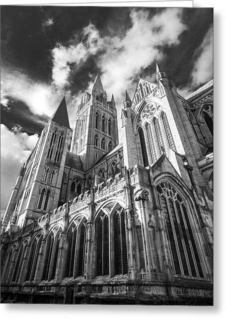 Truro Greeting Cards - Truro Cathedral Greeting Card by Kieran Brimson