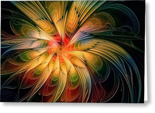 Floral Digital Art Greeting Cards - Try a Little Tenderness Greeting Card by Amanda Moore