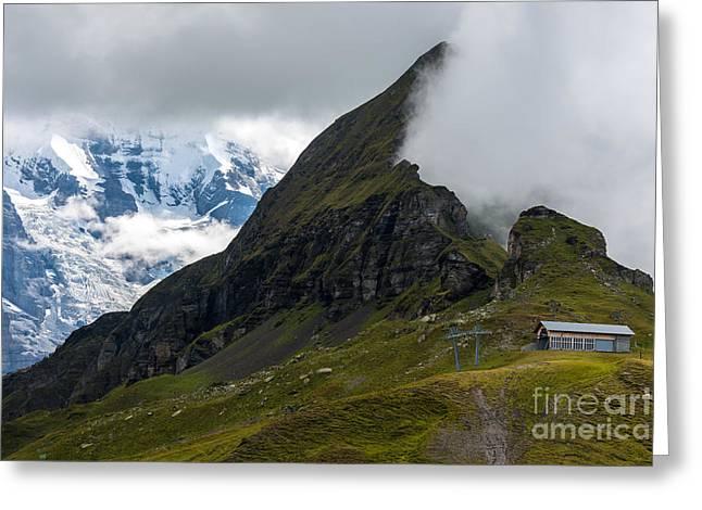 Tschuggen Mountain - Mannlichen - Switzerland Greeting Card by Gary Whitton
