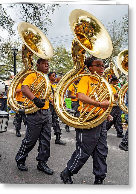 Marching Band Greeting Cards - Tuba Brigade Greeting Card by Steve Harrington