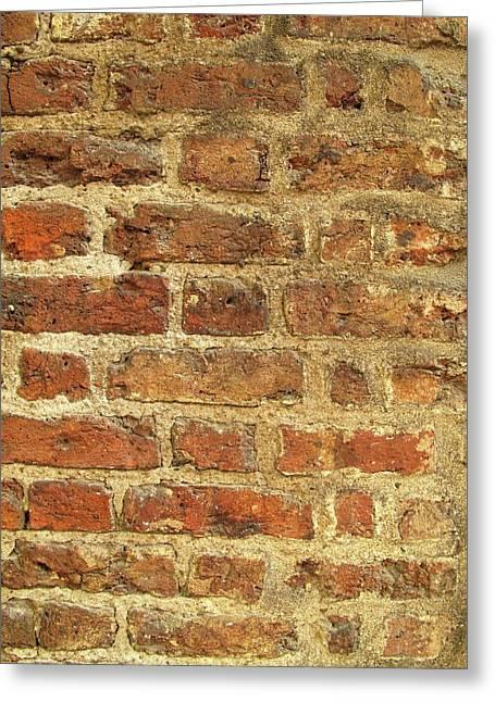 Tudor Brickwork Greeting Card by Cordelia Molloy