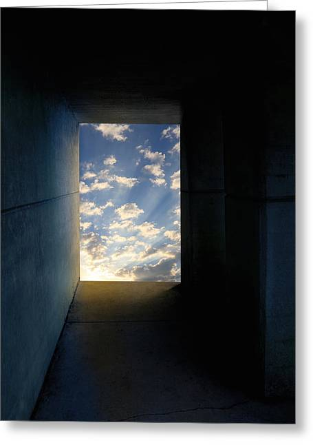Hope At The End Of The Tunnel Greeting Cards - Tunnel with Light Greeting Card by Melinda Fawver