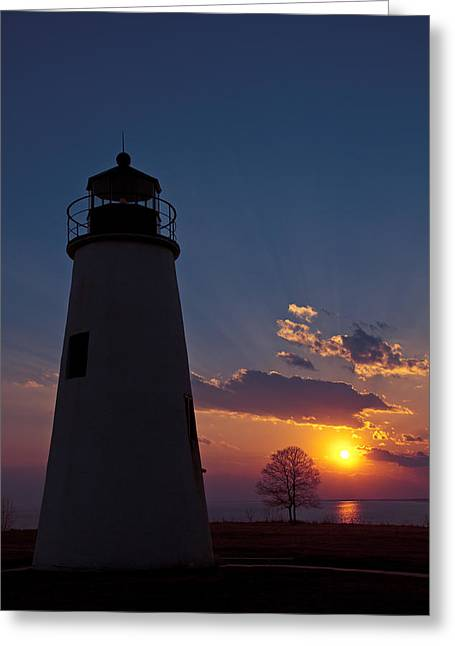 Maryland Greeting Cards - Turkey Point Lighthouse Greeting Card by Benjamin DeHaven