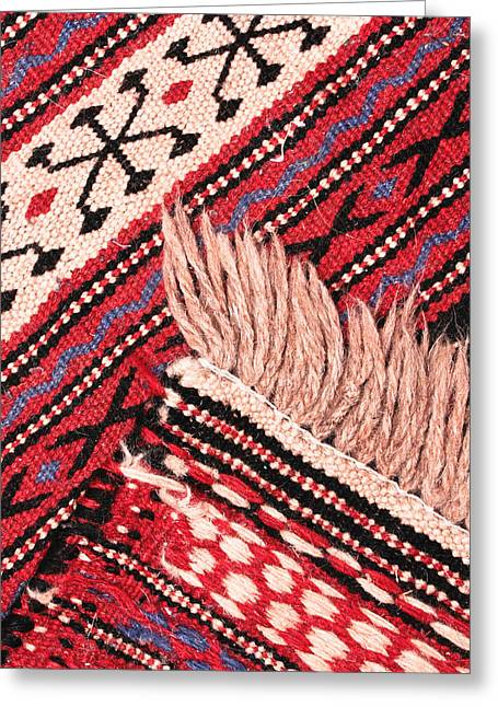 Rosette Greeting Cards - Turkish rug Greeting Card by Tom Gowanlock