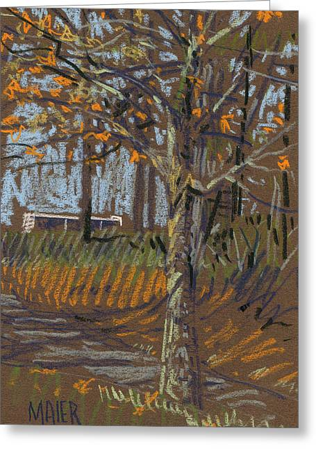 Landscapes Pastels Greeting Cards - Turning Leaves Greeting Card by Donald Maier