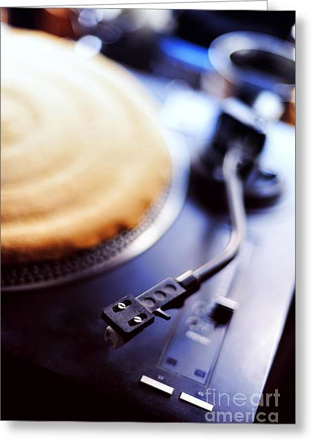 Hiphop Greeting Cards - Turntable Greeting Card by HD Connelly