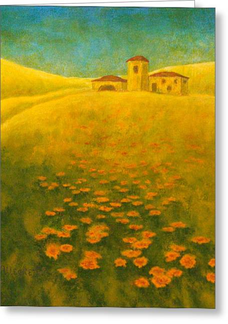 Pam Franz Greeting Cards - Tuscan Gold 2 Greeting Card by Pamela Allegretto