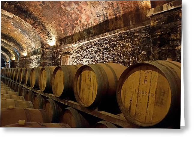 Cellar Greeting Cards - Tuscan Wine Cellar  Greeting Card by Mountain Dreams