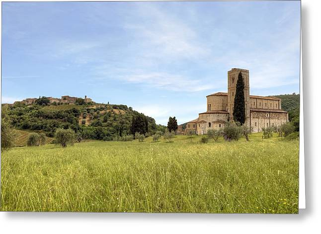 Dells Greeting Cards - Tuscany - Abbazia di SantAntimo Greeting Card by Joana Kruse