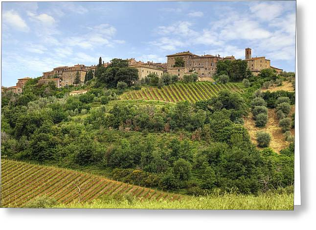 Dells Greeting Cards - Tuscany - Castelnuovo dellabate Greeting Card by Joana Kruse