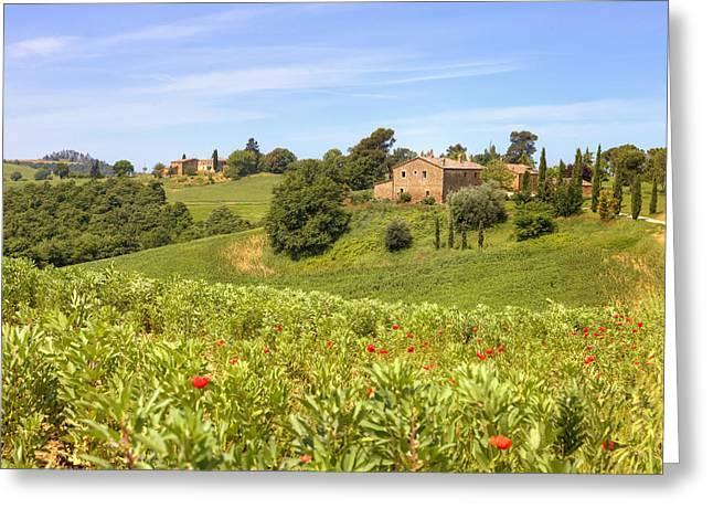 Montepulciano Greeting Cards - Tuscany - Montepulciano Greeting Card by Joana Kruse