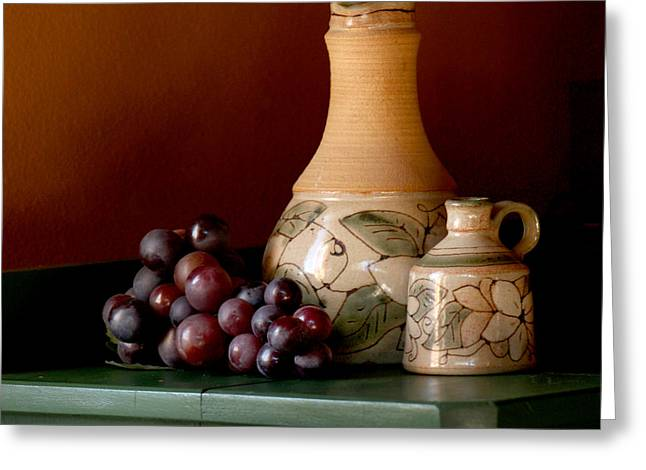 Purple Grapes Greeting Cards - Tuscany Grapes Greeting Card by Art Block Collections