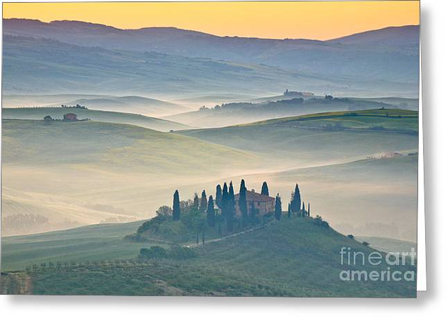 Tuscan Hills Greeting Cards - Tuscany Greeting Card by Patrick Frischknecht