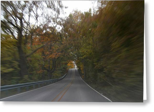 Indiana Autumn Greeting Cards - Twice the Speed of Autumn Greeting Card by Dan McCafferty